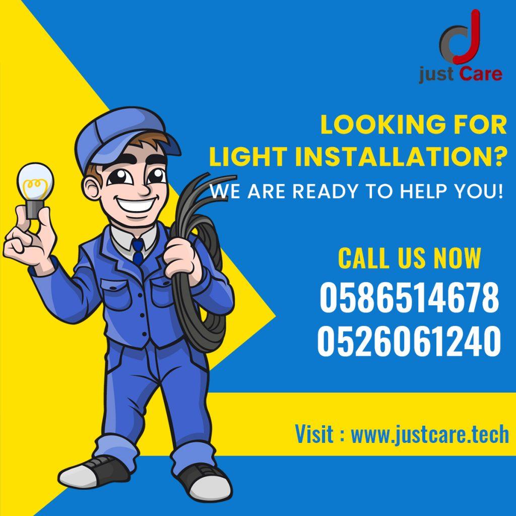 Light Installation Service in Dubai | Electrician Light Fixture
